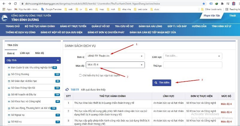 Nộp hồ sơ xin giấy phép qua mạng - bước 5