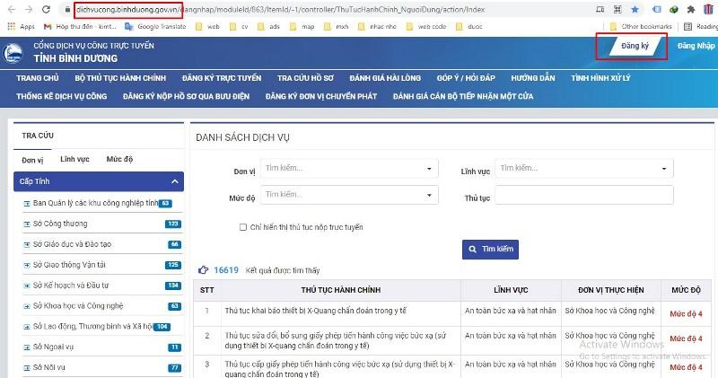 Nộp hồ sơ xin giấy phép qua mạng - bước 2